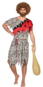 Mens Red Caveman Fancy Dress Costume