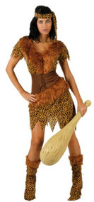 Ladies Sexy Cavegirl Fancy Dress Costume