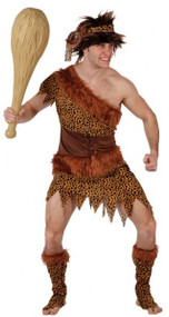 Mens King Caveman Fancy Dress Costume
