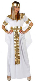 Ladies Long Egyptian Queen Fancy Dress Costume