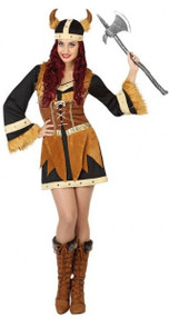 Ladies Sexy Viking Fancy Dress Costume 1