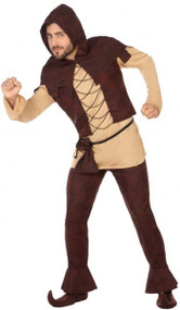 Mens Medieval Peasant Fancy Dress Costume