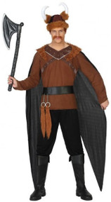 Mens Victorious Viking Fancy Dress Costume