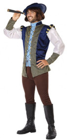 Mens Medieval Explorer Fancy Dress Costume