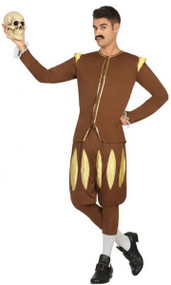 Mens Medieval Poet Fancy Dress Costume