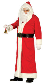 Mens Red Santa Claus Fancy Dress Costume