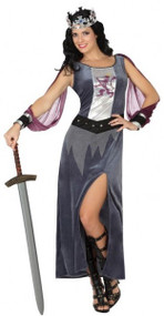 Ladies Medieval Knight Fancy Dress Costume