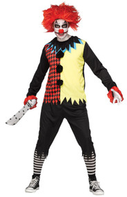 Mens Horror Freakshow Clown Fancy Dress Costume