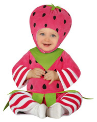 Baby Girls Strawberry Fancy Dress Costume