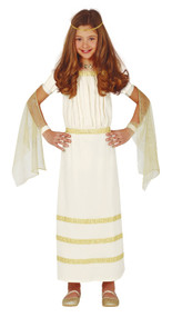 Girls Golden Roman Fancy Dress Costume