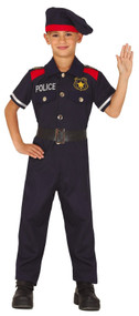 Boys Police Man Fancy Dress Costume