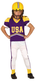 Boys American Quarterback Fancy Dress Costume