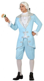 Mens Blue Baroque Fancy Dress Costume