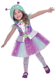 Girls Alien Cutie Fancy Dress Costume