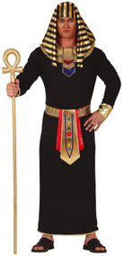 Mens Long Black Egyptian Fancy Dress Costume