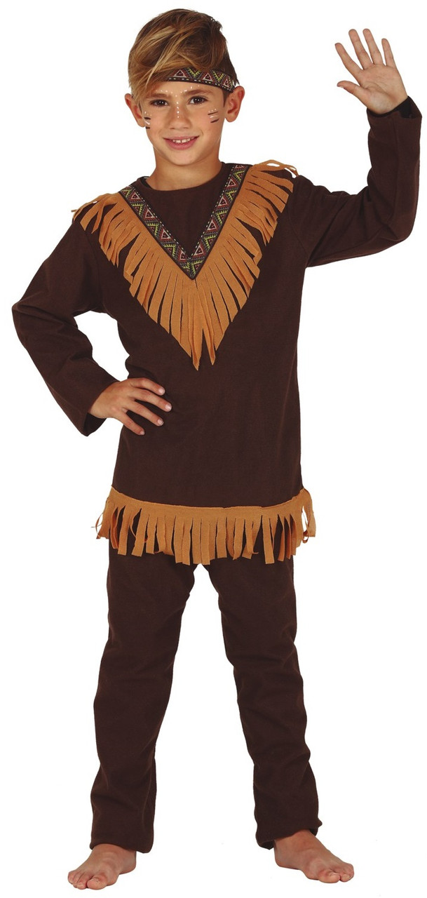 6d46128864827 Boys Western Indian Fancy Dress Costume