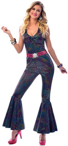 Ladies 70s Disco Diva Fancy Dress Costume