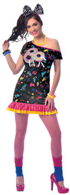 Ladies 1980s Diva Fancy Dress Costume