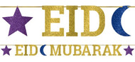 Eid Glittery Celebration Banner Decoration