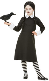 Girls Gothic School Girl Fancy Dress Costume
