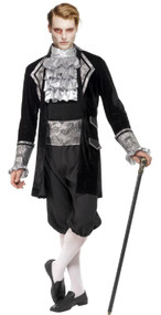 Mens Fever Vampire Fancy Dress Costume