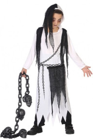 Child's Chained Spirit Fancy Dress Costume
