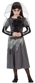 Girls Halloween Bride Fancy Dress Costume