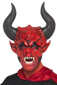 Mens Devil Lord Fancy Dress Mask