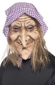 Adults Old Witch Fancy Dress Mask
