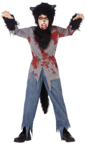 Boys Bloody Werewolf Fancy Dress Costume