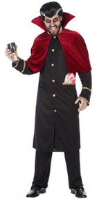 Mens Halloween Vampire Fancy Dress Costume