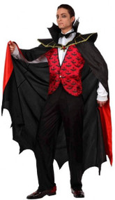 Mens Vampire Bat Fancy Dress Costume
