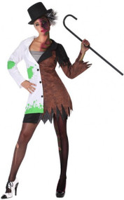 Ladies Mad Scientist Fancy Dress Costume