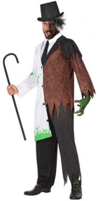 Mens Halloween Scientist Fancy Dress Costume