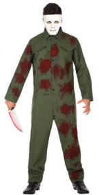 Mens Bloody Boiler Suit Fancy Dress Costume