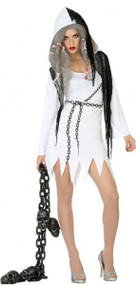 Ladies Sexy Ghost Fancy Dress Costume