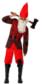 Mens Zombie Gnome Fancy Dress Costume