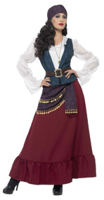 Ladies Deluxe Fortune Pirate Fancy Dress Costume
