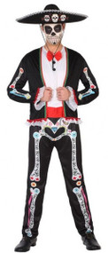 Mens Mexican Day of the Dead Fancy Dress Costume