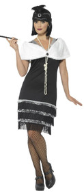 Ladies Vintage 1920s Flapper Fancy Dress Costume