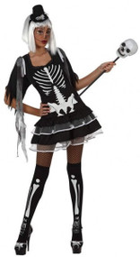 Ladies Sexy Skeleton Fancy Dress Costume 1