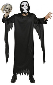 Mens Skeleton Killer Fancy Dress Costume