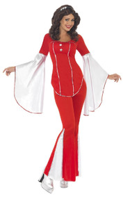 Ladies Red Super Trooper Fancy Dress Costume