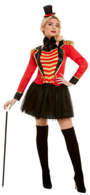 Ladies Deluxe Showman Fancy Dress Costume
