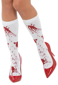 Ladies Blood Splatter Halloween Socks