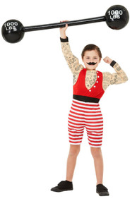 Boys Deluxe Circus Strongman Fancy Dress Costume