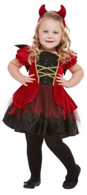Toddler Girls Cute Devil Fancy Dress Costume