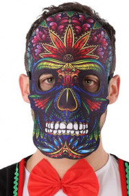 Adult Bright Day of the Dead Fancy Dress Mask