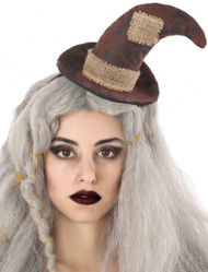 Ladies Mini Scarecrow Fancy Dress Hat