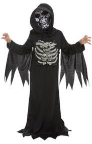 Boys Skeleton Reaper Fancy Dress Costume